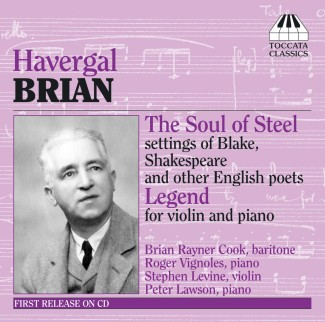 Havergal Brian: Songs for baritone and piano