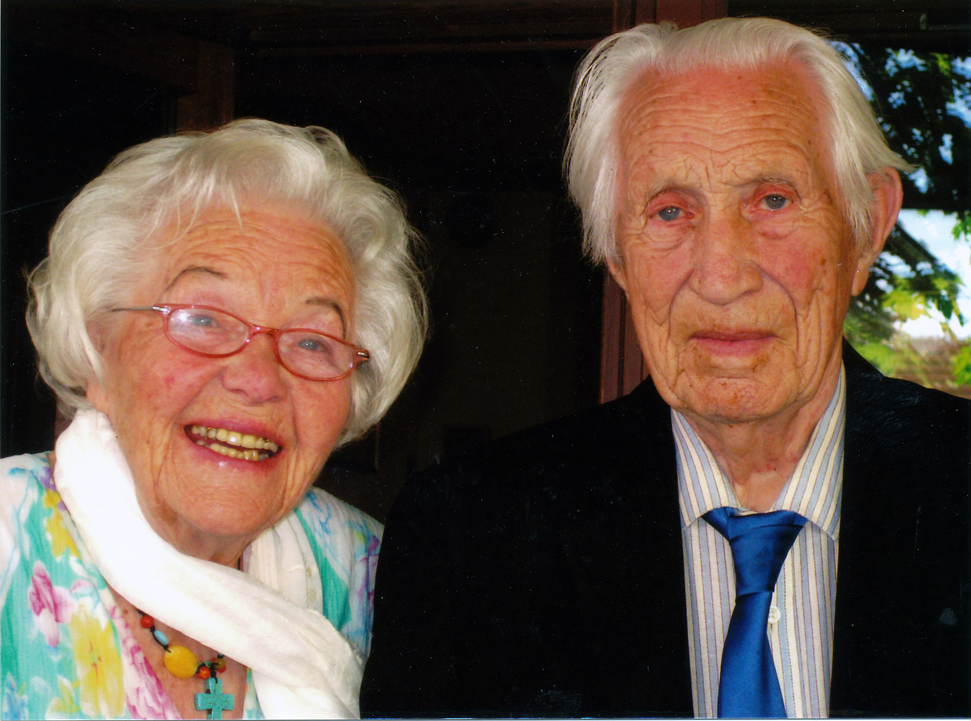 Leif Solberg and his wife, Reidun, whom he married in 1940