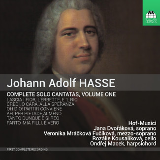 Johann Adolf HASSE: Complete Solo Cantatas, Volume One