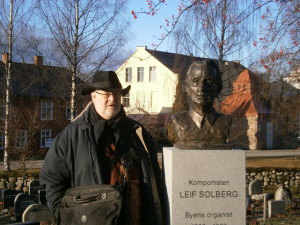 Honoured in his own time: the bust of Leif Solberg