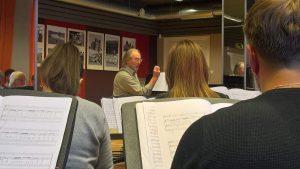 Tonu Kaljuste rehearsal