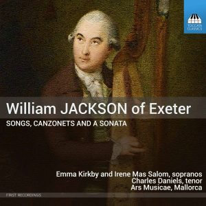 William Jackson: Songs, Canzonets and a Sonata