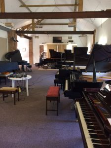 Inside High Hurstwood recording piano room