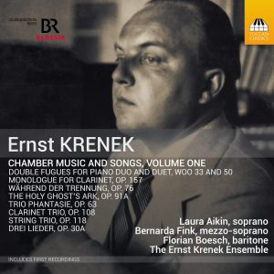 Ernst Krenes: Chamber Music and Songs, Volume One - Cover artwork