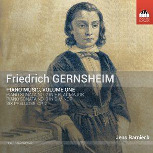 Friedrich Gernsheim: Piano Music, Volume One Cover Art