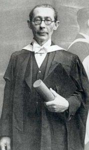Gal with Honorary doctorate, Edinburgh, 1948