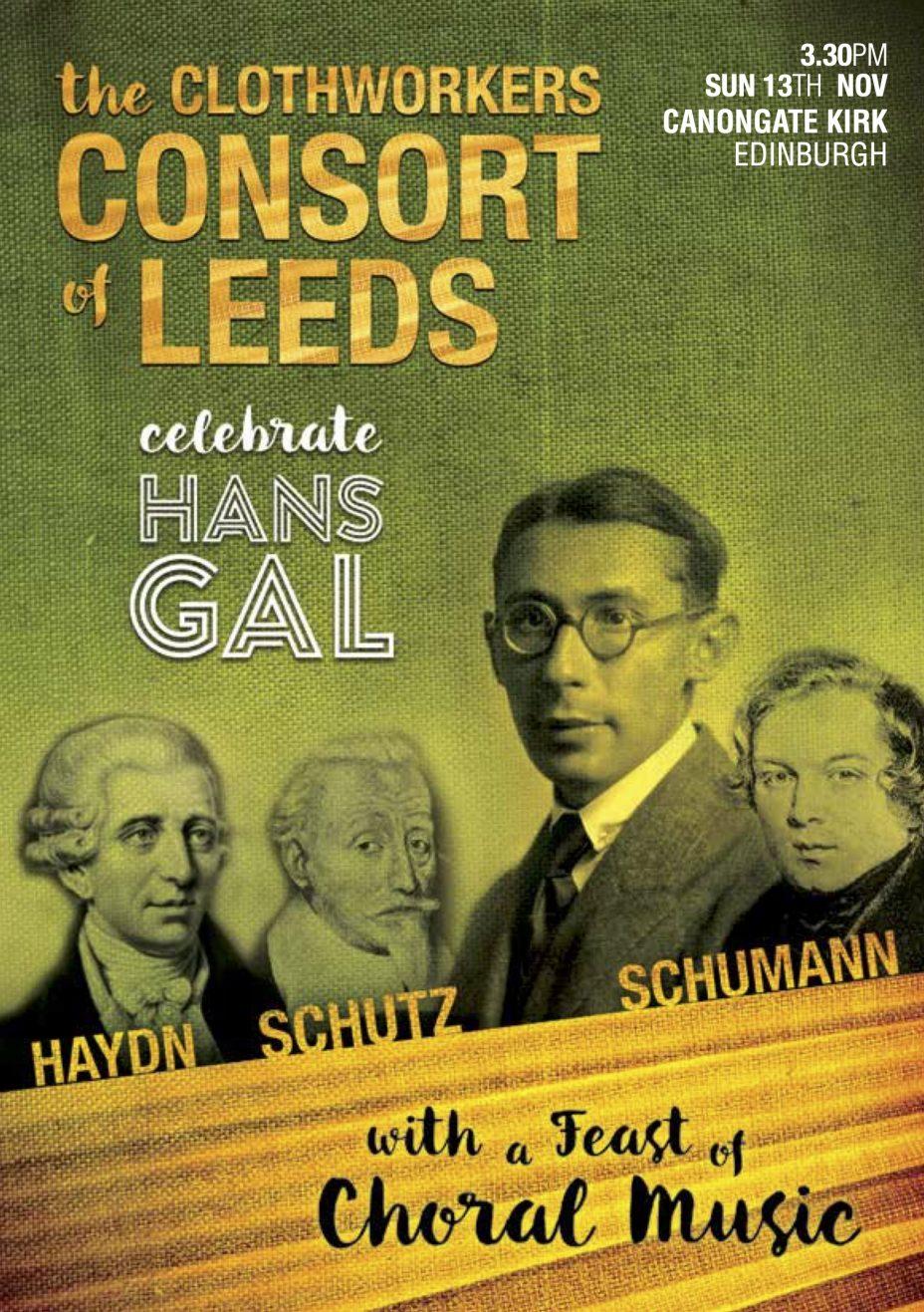 Gal Society concert, Edinburgh 2016 Poster