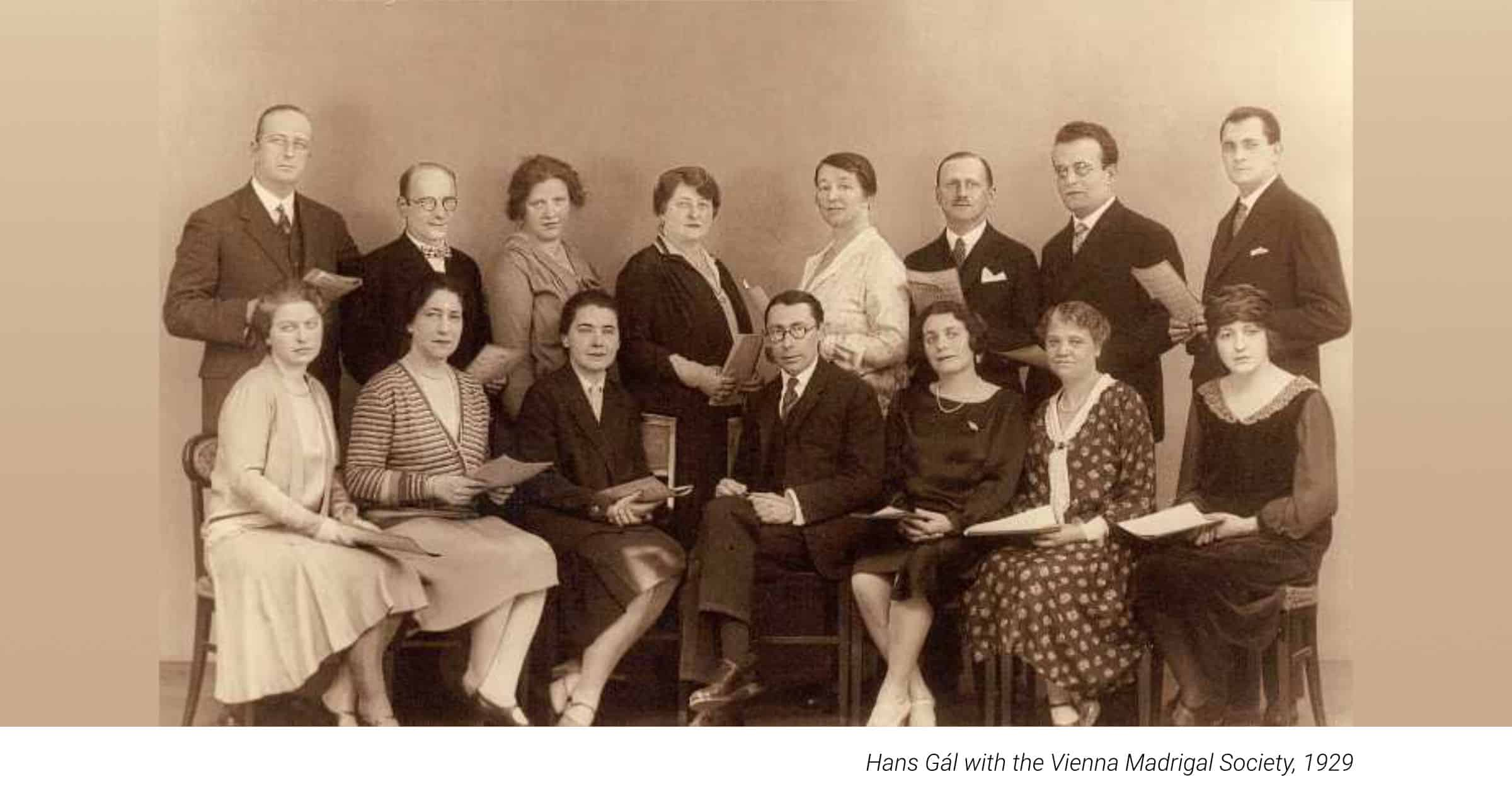 Hans Gál with the Vienna Madrigal Society, 1929
