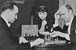 David Oistrakh playing chess with Prokofiev in 1937
